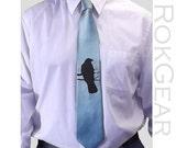 9 Wedding microfiber men neckties - Set of 9 ties Crow design - Mix or match colors - custom colors available