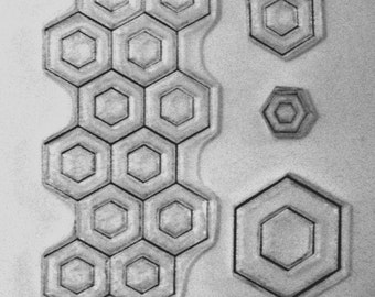 Honeycomb background clear stamp hexagon bolt nut