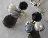 Smokey Quart & Pearls