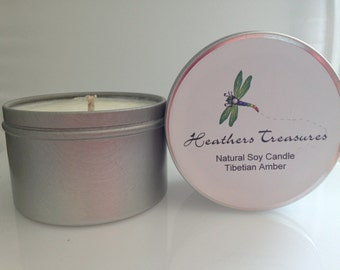 All Natural Eco Friendly Soy Candle Tibetian Amber