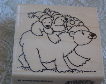 Polar Ride wood mounted Rubber Stamp - Stampendous