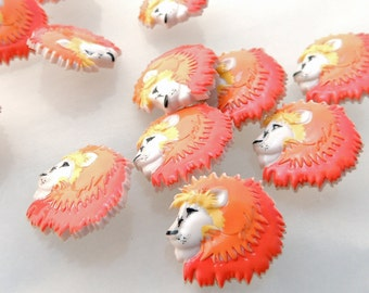 Lion Head Buttons by Buttons Galore