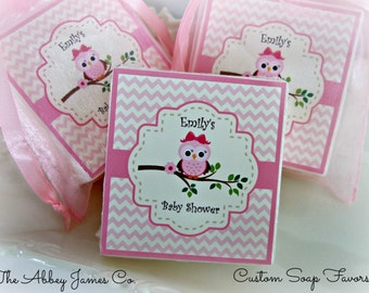 Baby Shower Favors, Owl Favors, Owl Baby Shower, Soap favors, set of 10
