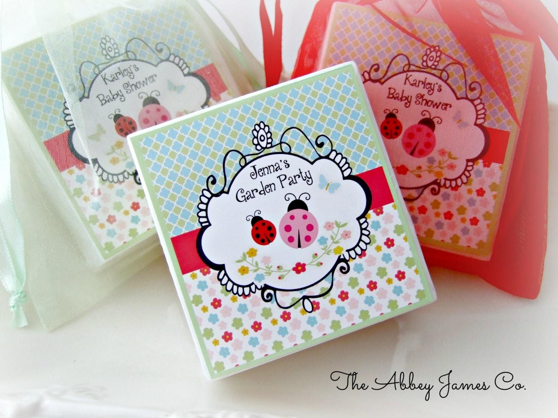 baby shower favors ladybug favors tea party favors garden