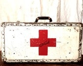 Pre WWII Red Cross Combat Medic Officer Foot Locker Suit Case