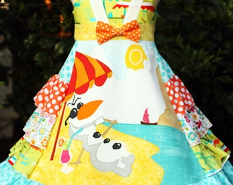 Olaf in Summer Disney Girls Dress Sizes 3 4 5 6 7 8