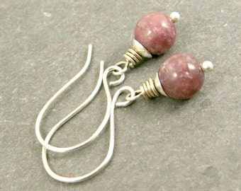 Natural Tourmaline Earrings Sterling Silver Gifts for Her