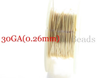 3 Feet Gold Filled Round Wire-Half Hard-30 Gauge (0.25mm)