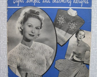 1949 4-Ounce Jumpers Knitting Pattern Booklet - 1940s - Weldons - PDF