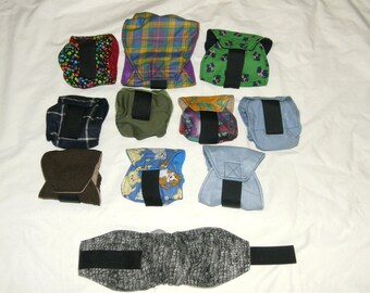 "One 11""-14"" Assorted Male Dog Diaper 