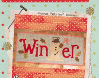 Clearance PATTERN Winter Snowman Christmas TABLE RUNNER