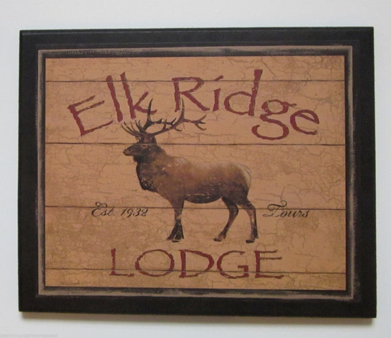elk ridge lodge picture rustic country style wall decor hunting cabin
