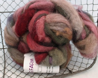 Roving, Jacob Roving, Hand Painted Jacob Wool Roving #603