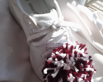 1 Pair of Pretty Little Girl Shoe Pom Poms, Cheerleader Pom Poms, Cheerleader Accessories, Pom Poms, Cheerleader Supplies