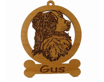 Australian Shepherd Head Ornament 081398 Personalized With Your Dog's Name