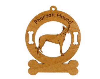 3706 Pharaoh Hound Standing Personalized Dog Ornament