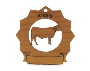 Angus Cow Personalized Ornament