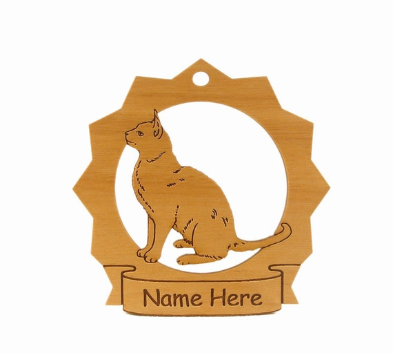 Burmese Cat Wood Ornament 087116 Personalized With Your Cat's Name