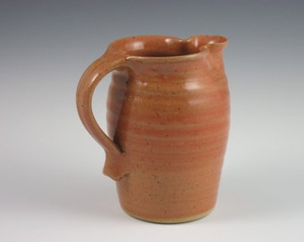 Coral Maple Syrup Pitcher
