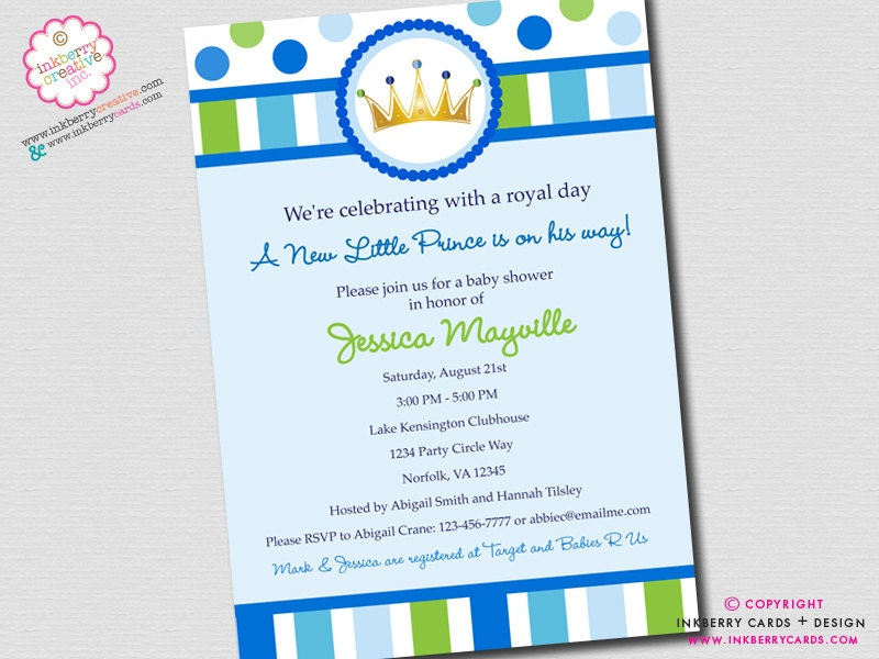 little prince baby shower invitation digital by inkberrycards