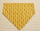 Dog Bandana with Small Foxes Sizes XS to XL in Over Dog Collar Style