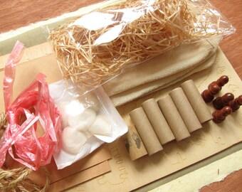 BEIGE - mixed media kit (1 large set of alternative stock)
