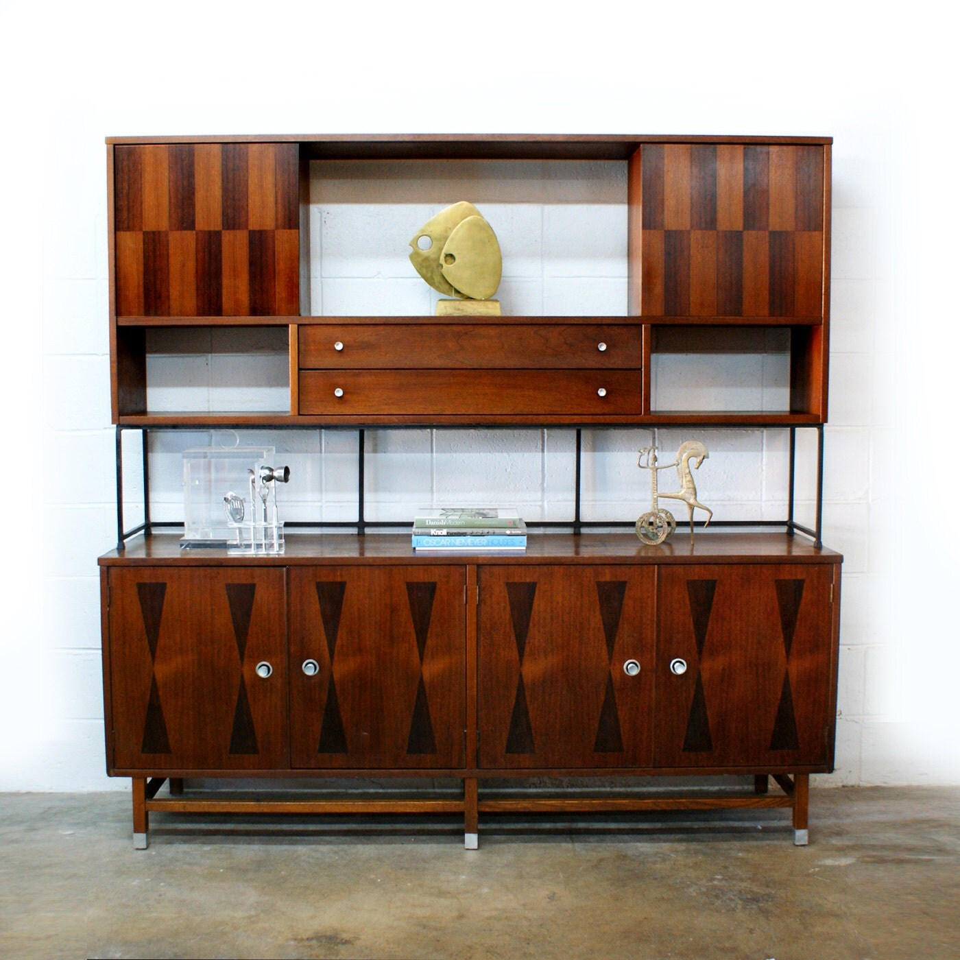 Credenza Mid Century Modern: Mid Century Modern Rosewood Sideboard Credenza