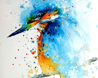 Kingfisher • watercolor painting • A4 • A3 • art print