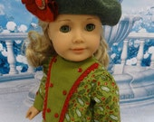 Christmas Holly - Edwardian dress and bloomers for American Girl