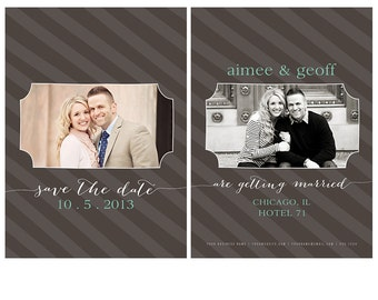 Save the Date Card | Photoshop Template for Photographers | Instant Download | Fully Customizable | CS4004a