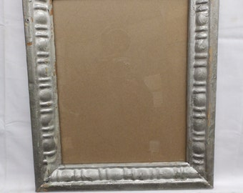 TIN CEILING Metal Picture Frame 11 x 14 Nickel Shabby Recycled chic S 1963-14