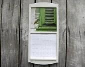 "12"" x 24"" Calendar Holder Wooden Calendar Frame in Classic White medium size"