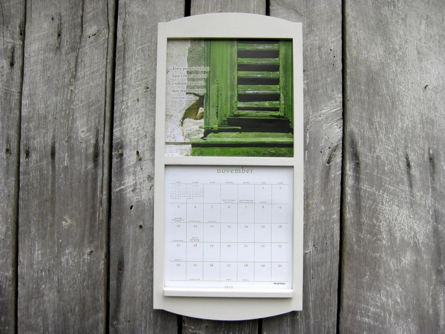 12 x 24 Calendar Holder Wooden Calendar Frame by SugarShackShoppe