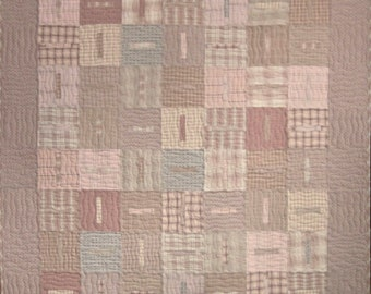 Patchwork Quilt - pink Japanese Feng Shui throw