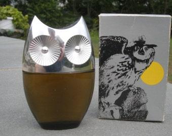 Vintage Avon Owl Leather After Shave Bottle