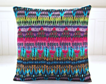 decorative pillow cover aztec lime cerise turquoise purple lumbar cushion cover 14 inch mix and match