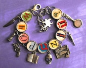 Whodunit Charm Bracelet Mystery Reader Lover Book Themed Literary Jewelry