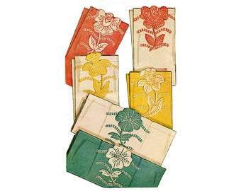 1940s Flower Applique Transfers Pattern Jonquil Rose Pansy Guest Towel Retro Decor Floral Applique McCall 1266 Kaumograph Transfer