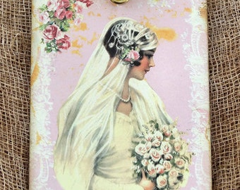 Victorian Bride Wedding Shower Favor Gift or Scrapbook Tags or Magnet #508