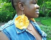 Crochet Sunflower Hoops
