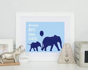 Dream Big Little One // Nursery / Kids Room Art Print // Modern Safari Themed Decor // N-G07-1PS AA1