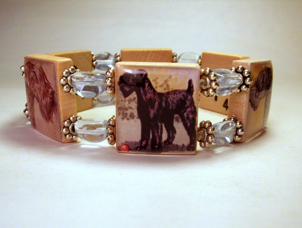 Kerry blue terrier bracelet unusual gifts dog jewelry for Unusual dog gifts