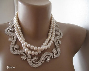 Bridal Freshwater pearl necklace