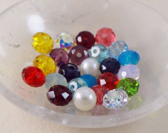 ADD an Accent birthstone Swarovski Crystal or pearl to any design in the shop, Choose a color, birthstone