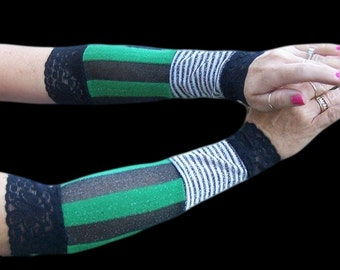 Arm Covers Arm Warmers Fingerless Gloves Handmade