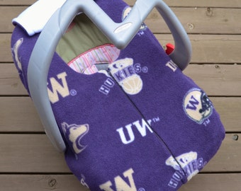UW Huskies Infant Car Seat Cover for Winter Baby,  by sophiemarie (not a registered product of the University of Washington