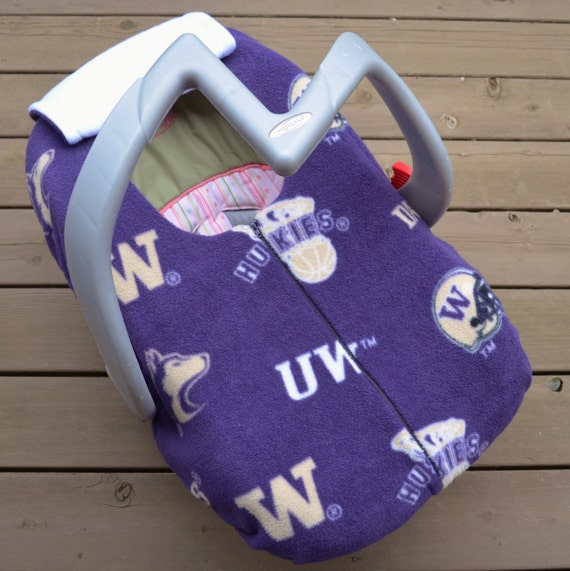 uw huskies infant car seat cover for winter baby by. Black Bedroom Furniture Sets. Home Design Ideas