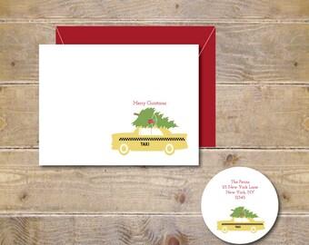 Christmas Card . Holiday Card Set . Cards Holidays . Cards Christmas - Christmas in New York City