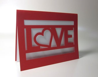 Love Paper-cut Card