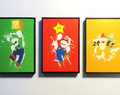 Framed Mario Luigi and Bowser 4x6 Prints